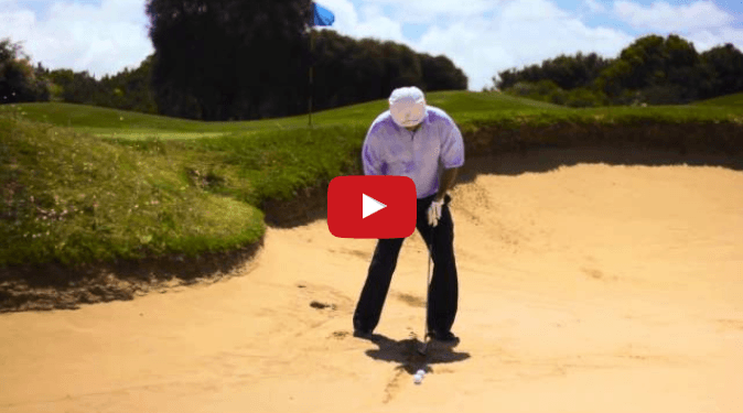 Where and How to Aim the Club when Playing Bunker Shots