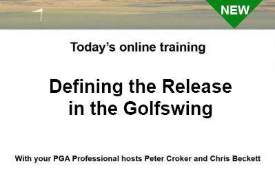 Defining the Release in the Golf Swing Presented by Peter Croker and Chris Beckett
