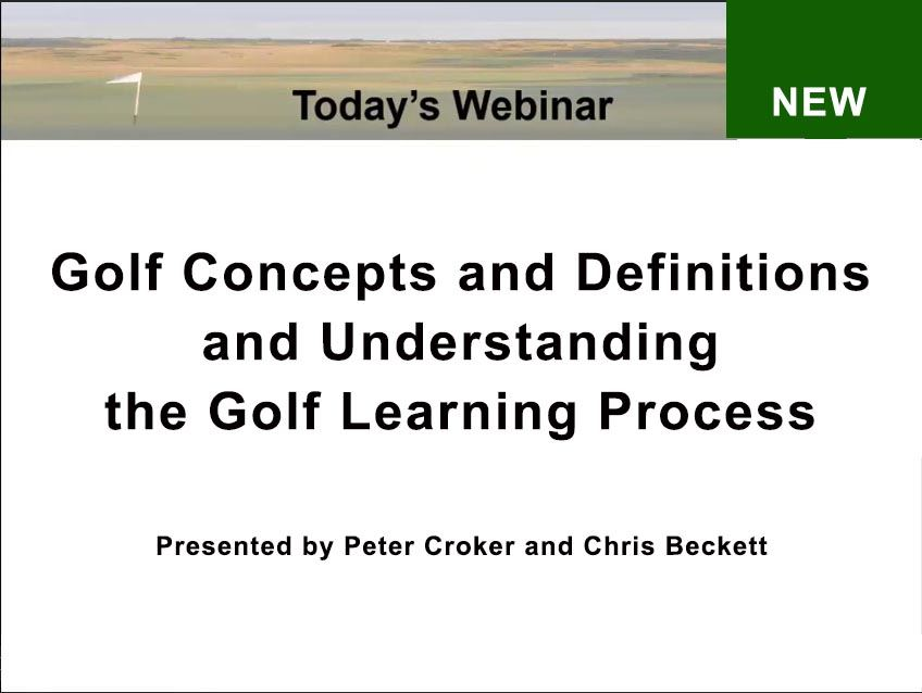 Golf Concepts and Definitions and the Incremental Steps Learning Process