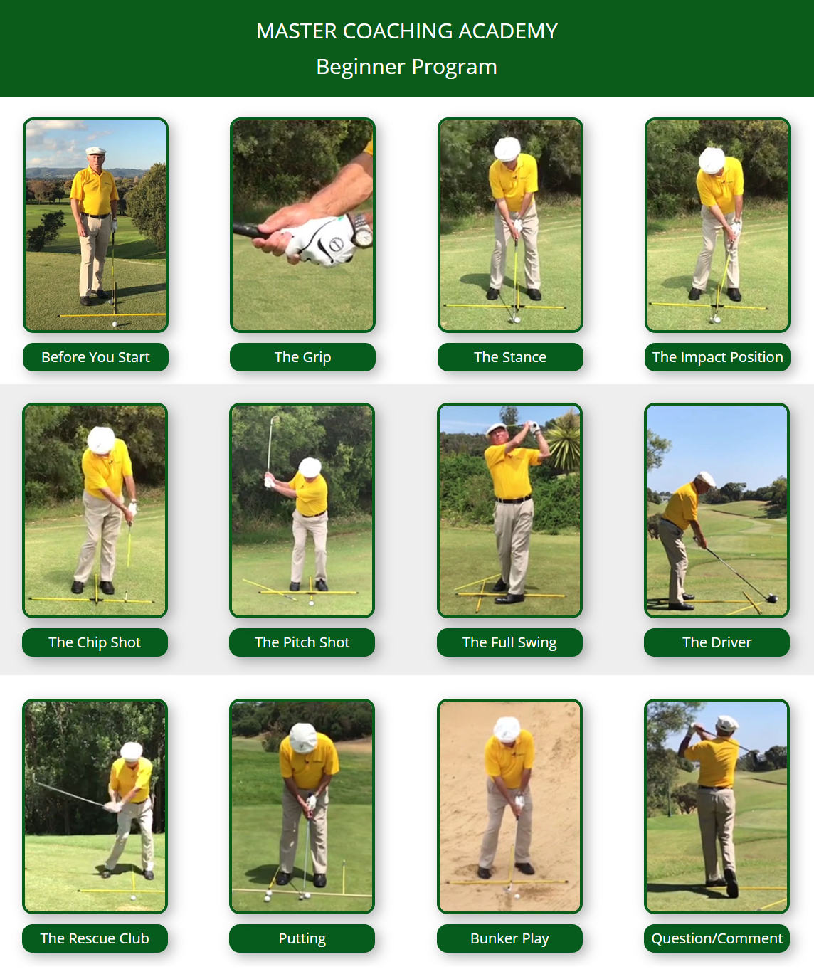 Croker Golf System Beginner Program