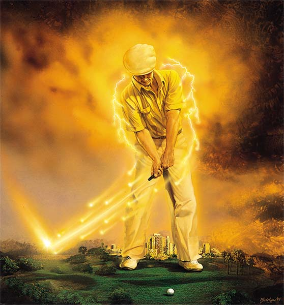 Lightning powered golf with Peter Croker Hitting the Ball